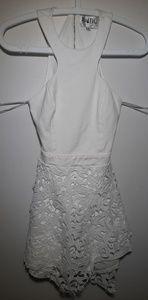 S BO Skirt Mini Dress White XS